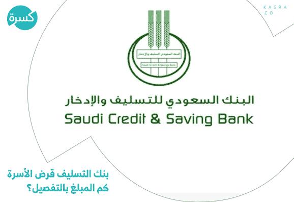 بنك التسليف قرض الأسرة كم المبلغ بالتفصيل؟